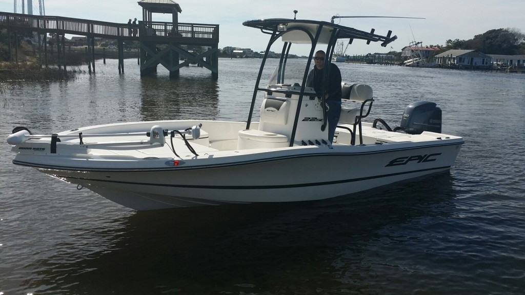Holden Beach fishing charter boat with Capt. Shane Britt